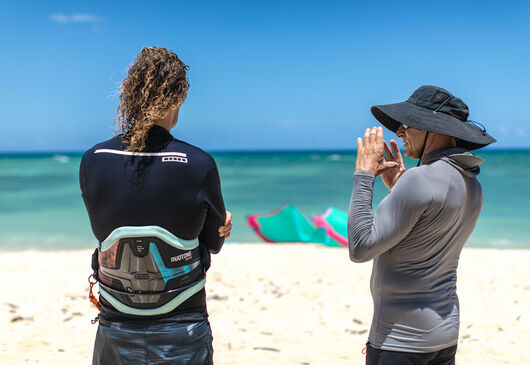 Duotone Kiteboarding Sky Solbach and Ken Winner