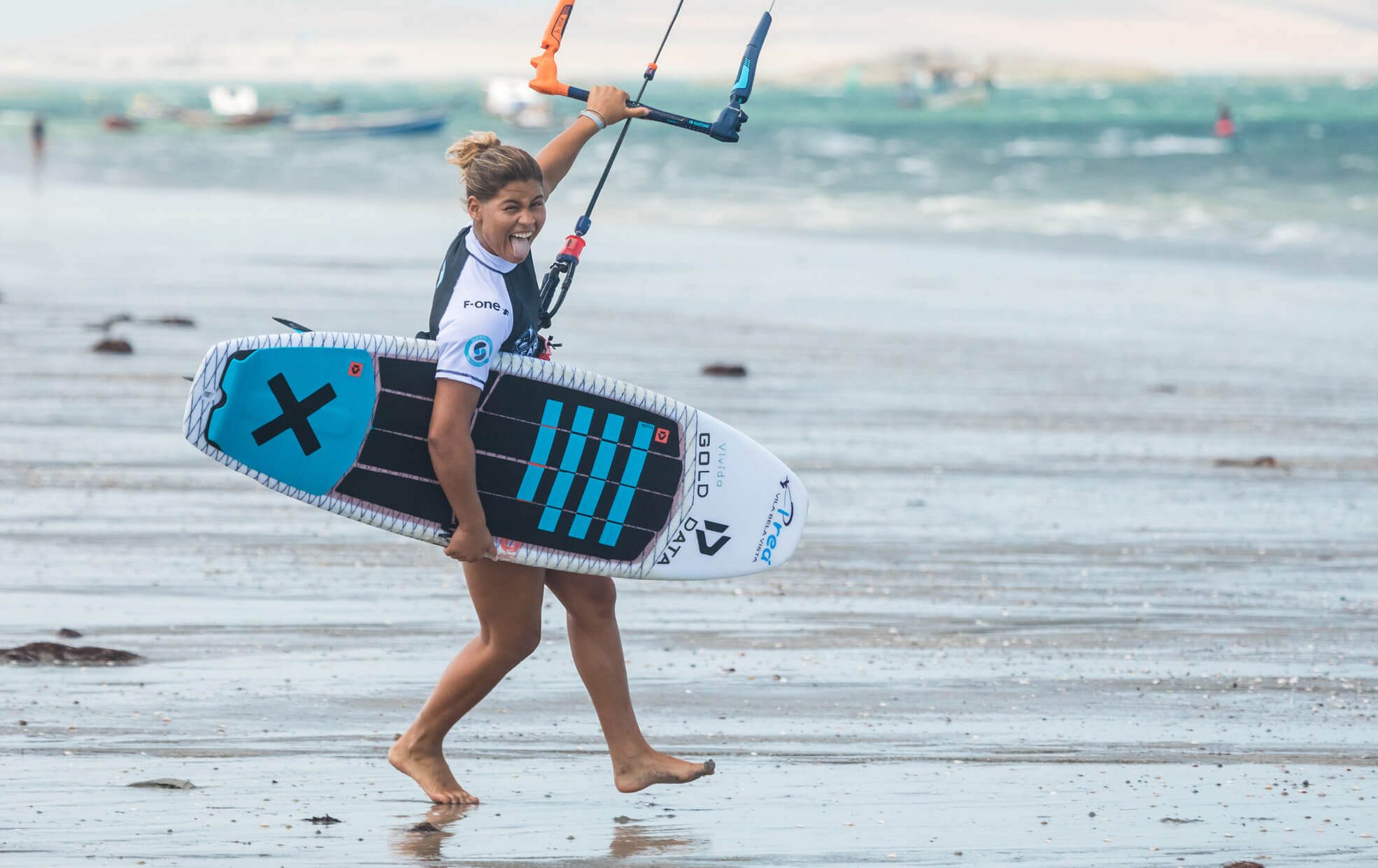 Duotone Kiteboarding Mikaili Sol is ready to ride