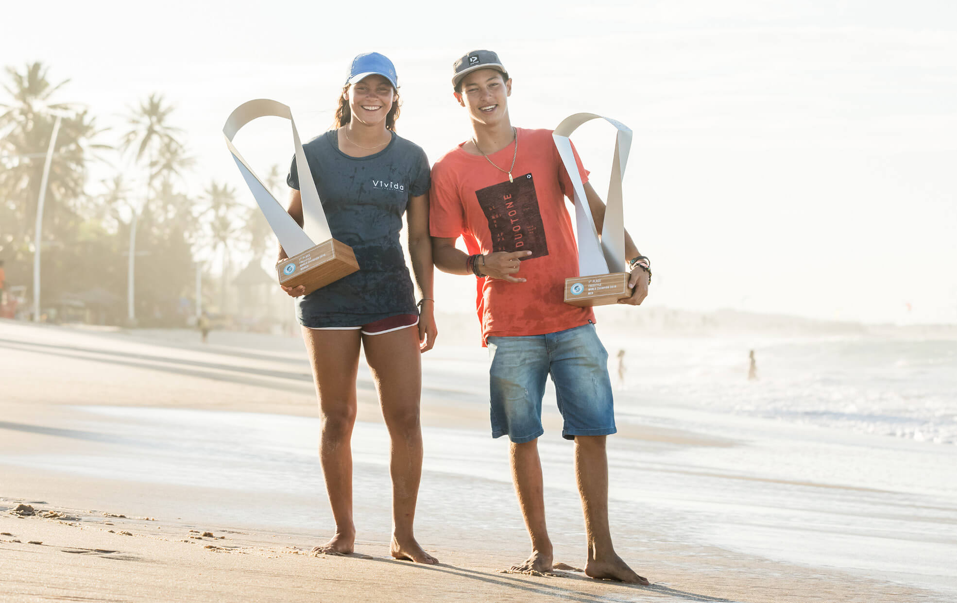 Duotone Kiteboarding World Champions Valentin and Mikaili