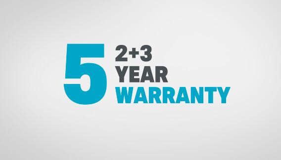 2+3 Year Warranty